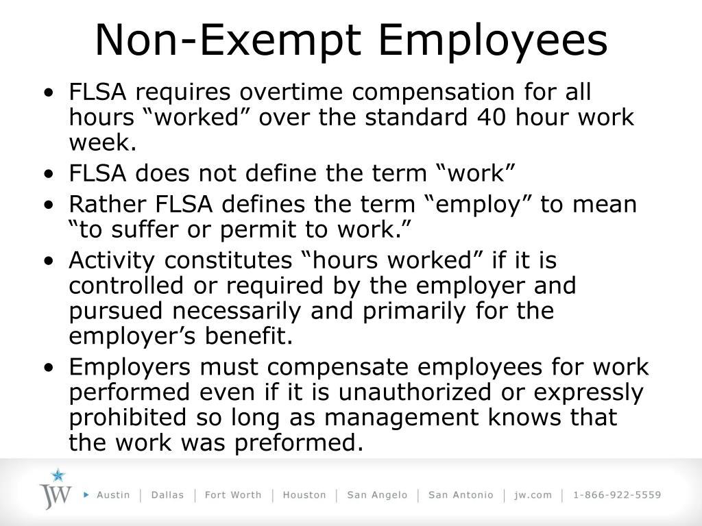 Non-Exempt Employees