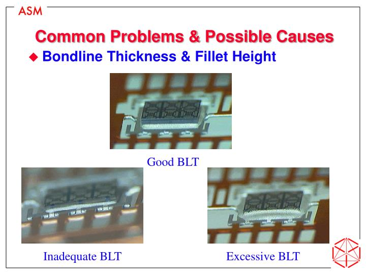 Common Problems & Possible Causes