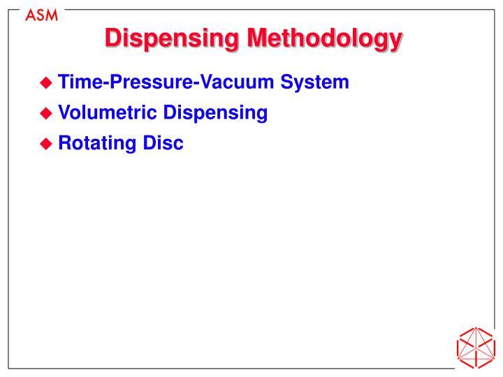 Dispensing Methodology