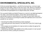 environmental specialists inc