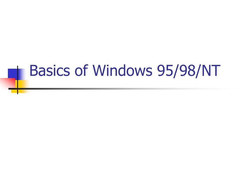 basics of windows 95 98 nt l.