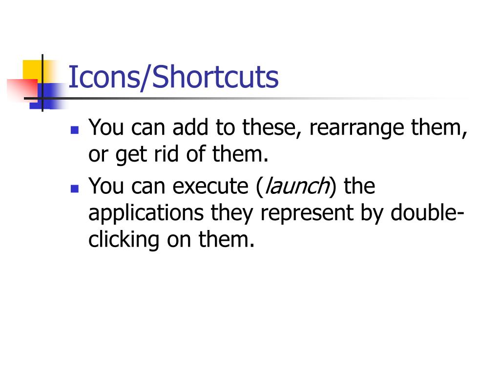 Icons/Shortcuts