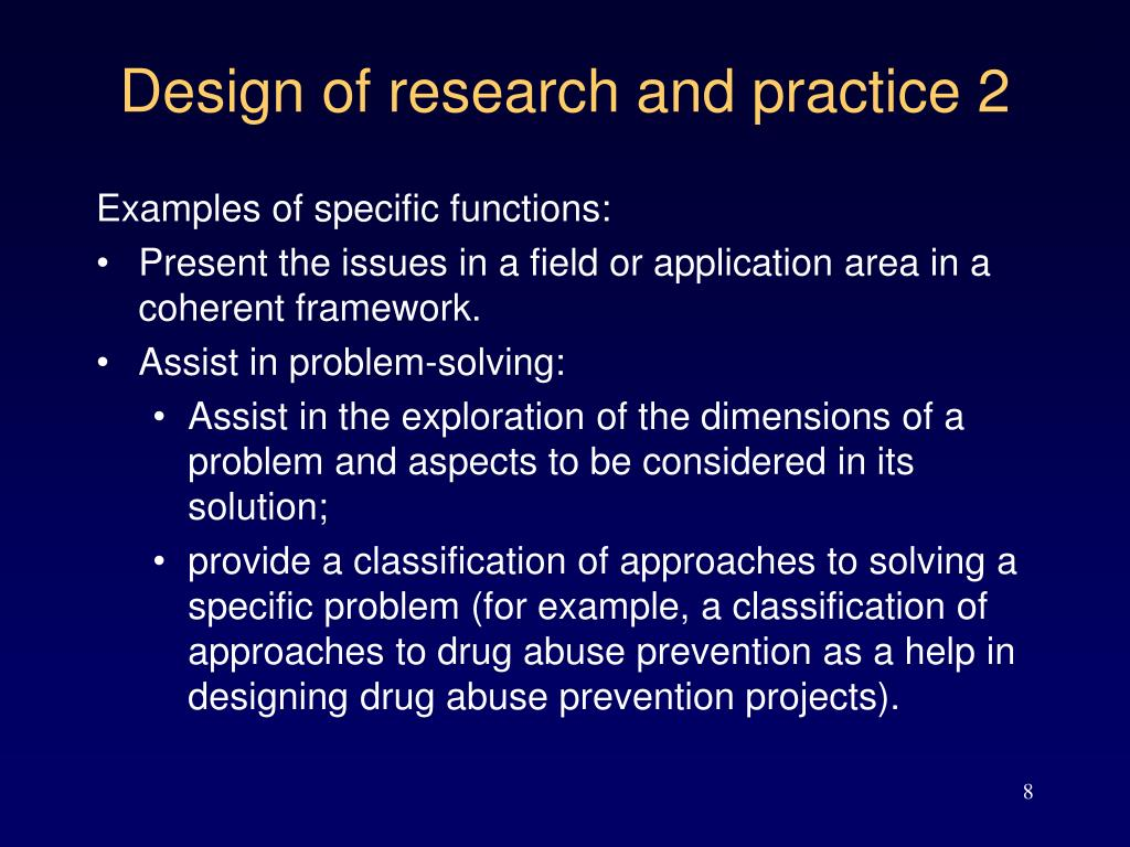 Design of research and practice 2
