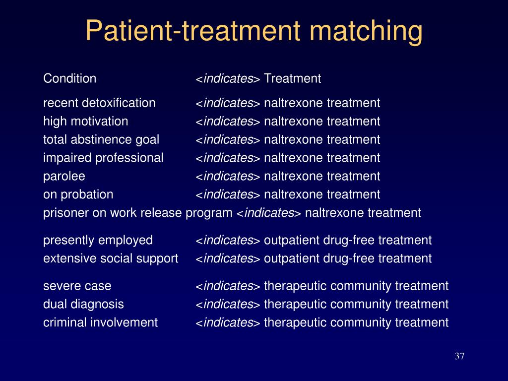 Patient-treatment matching