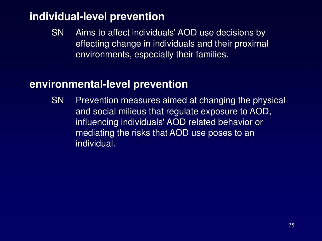 individual-level prevention