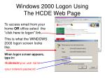 windows 2000 logon using the hcde web page6