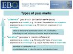 types of pass marks