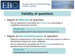 validity of questions