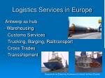logistics services in europe