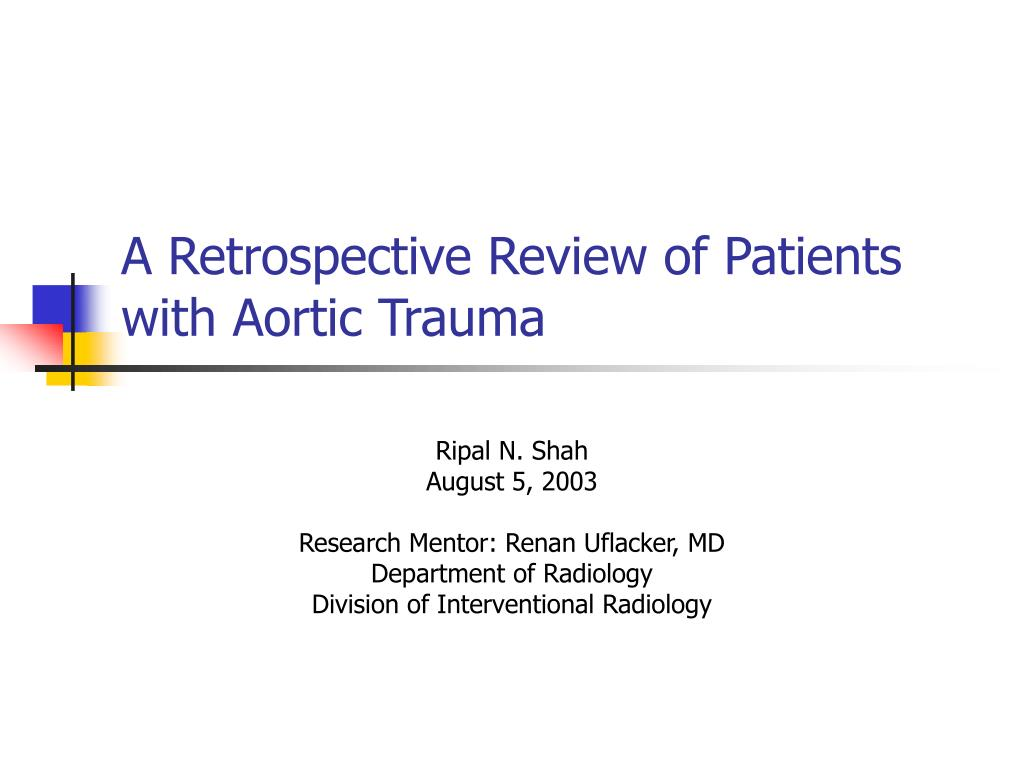 a retrospective review of patients with aortic trauma l.