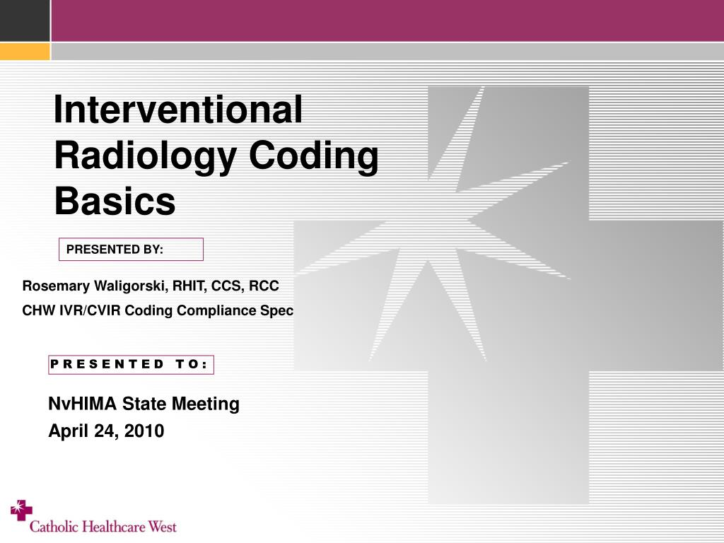 interventional radiology coding basics l.