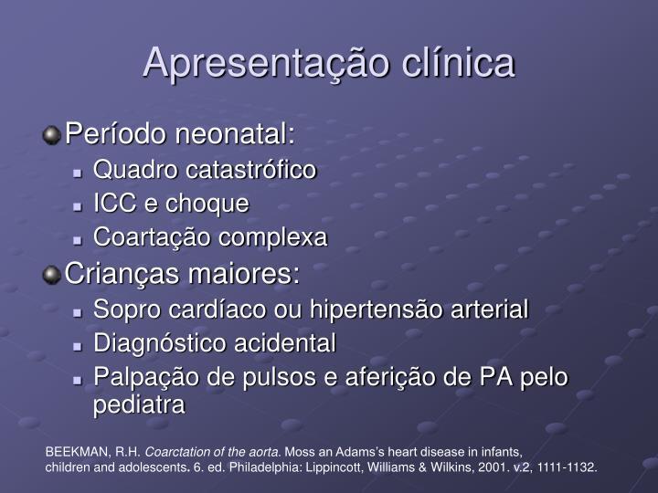 Apresentação clínica
