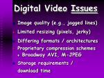 digital video issues