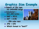 graphics size example