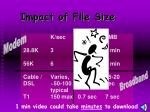 impact of file size