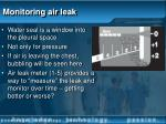 monitoring air leak