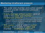 monitoring intrathoracic pressure