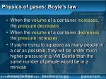 physics of gases boyle s law9