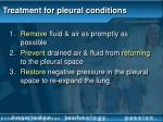 treatment for pleural conditions
