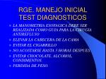 rge manejo inicial test diagnosticos