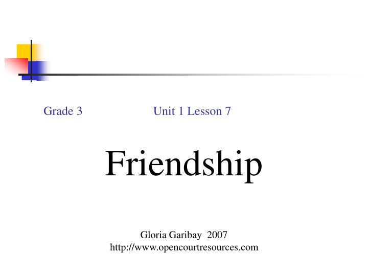 Grade 3                       Unit 1 Lesson 7