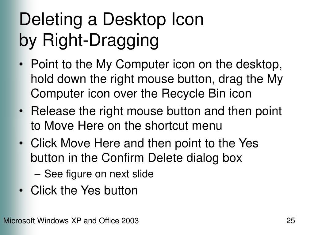Deleting a Desktop Icon