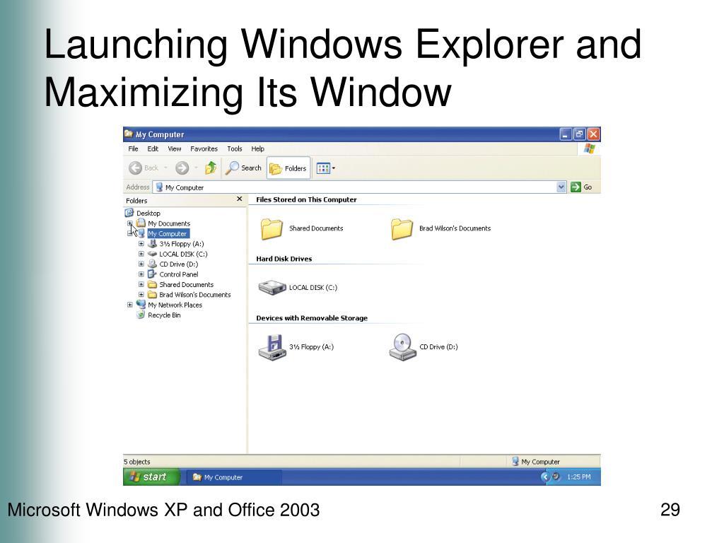 Launching Windows Explorer and Maximizing Its Window