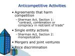 anticompetitive activities
