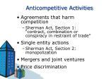 anticompetitive activities