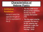 characteristics of hebrew poetry10