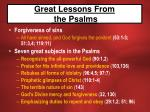 great lessons from the psalms25