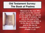 old testament survey the book of psalms