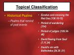 topical classification17