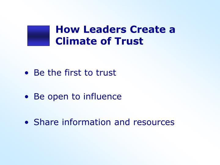 How Leaders Create a