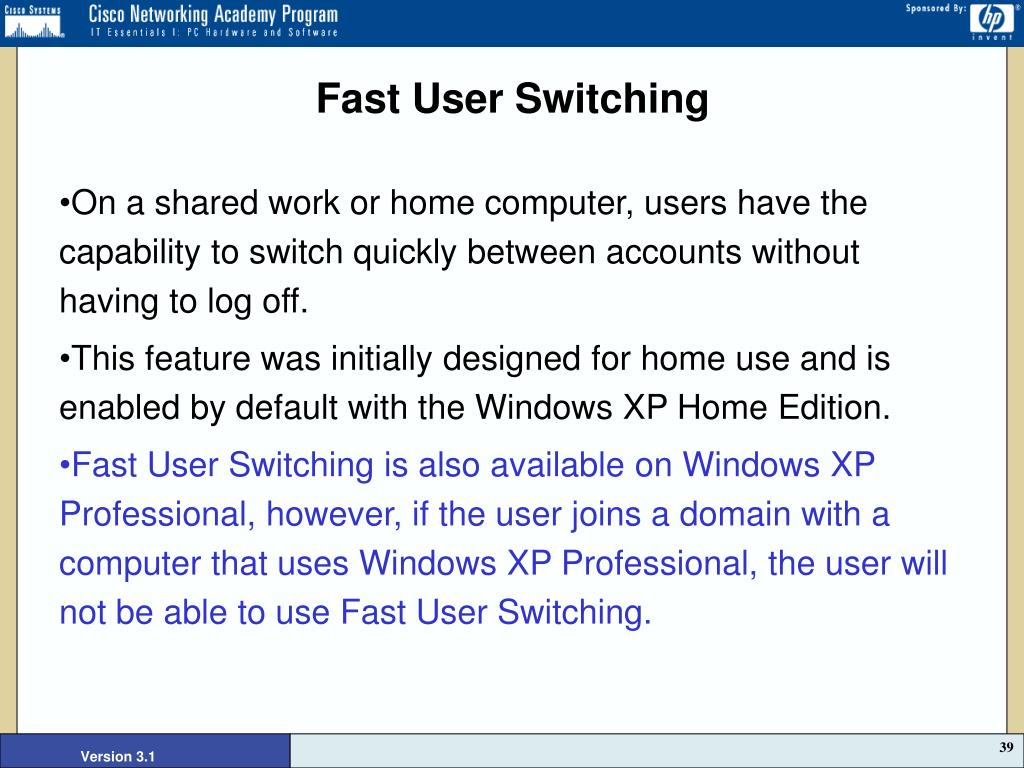 Fast User Switching