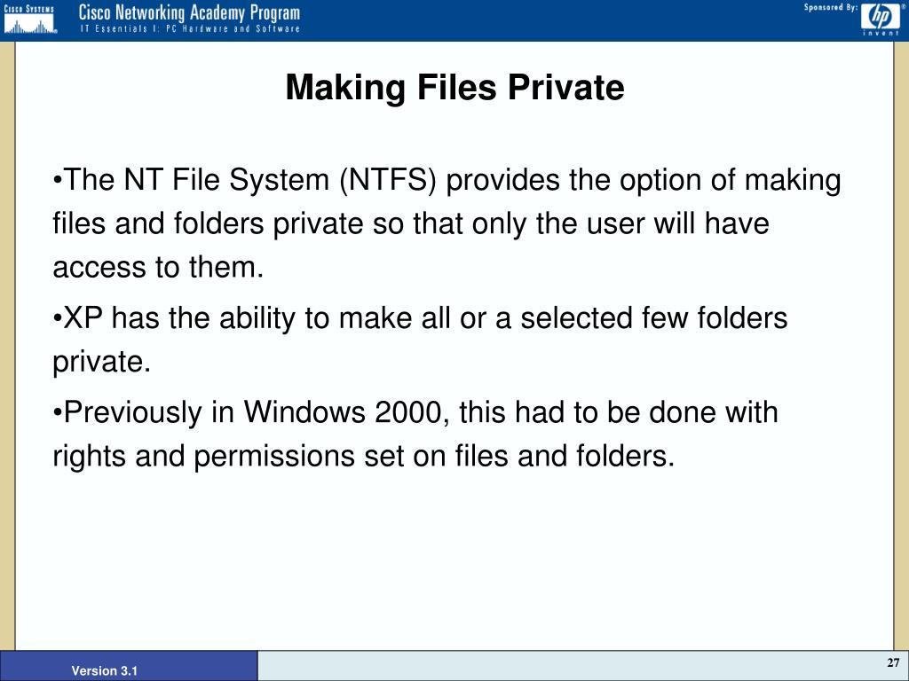 Making Files Private