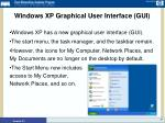 windows xp graphical user interface gui