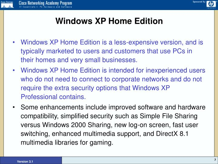 Windows xp home edition
