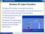 windows xp logon procedure