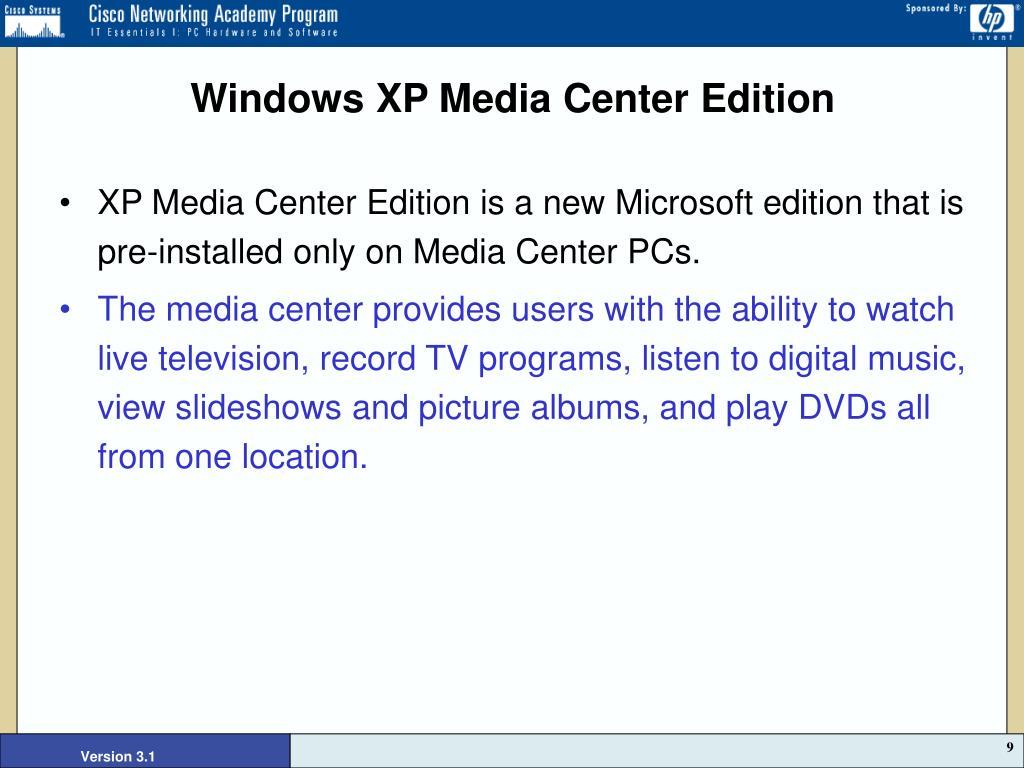 Windows XP Media Center Edition