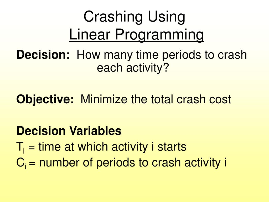 Crashing Using