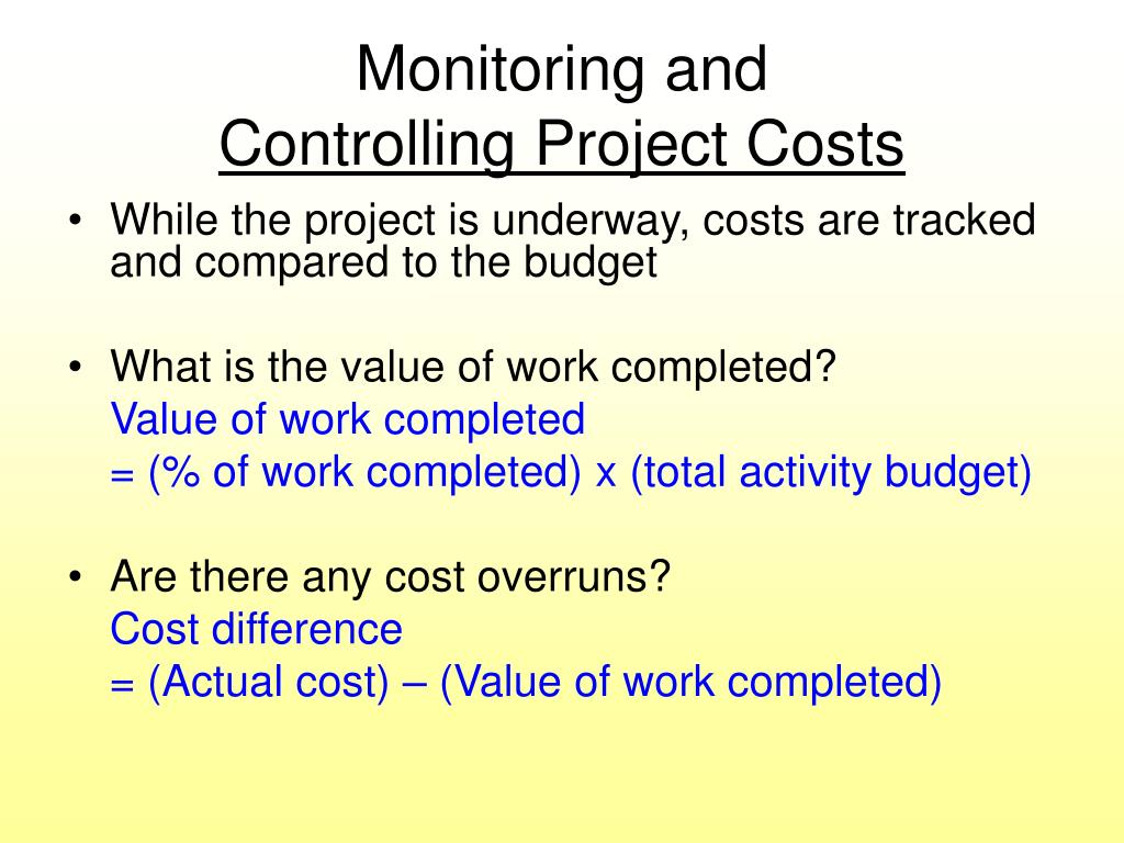 Monitoring and