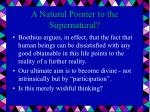 a natural pointer to the supernatural