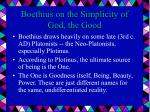 boethius on the simplicity of god the good