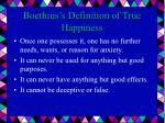 boethius s definition of true happiness