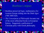 boethius s impact