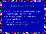 essence vs accident