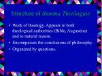 structure of summa theologiae