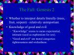 the fall genesis 2
