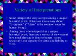 variety of interpretations